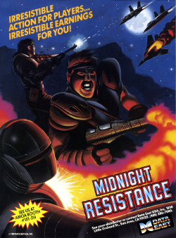 Box artwork for Midnight Resistance.