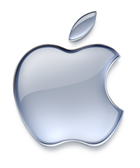 Apple's company logo.