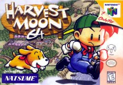 Box artwork for Harvest Moon 64.
