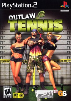 Box artwork for Outlaw Tennis.