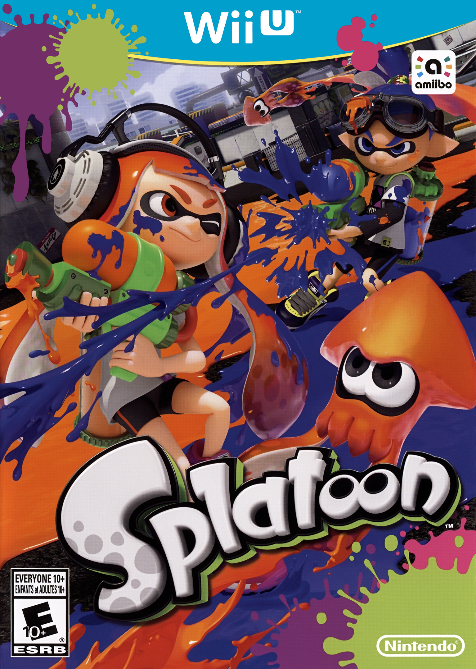 Box artwork for Splatoon.