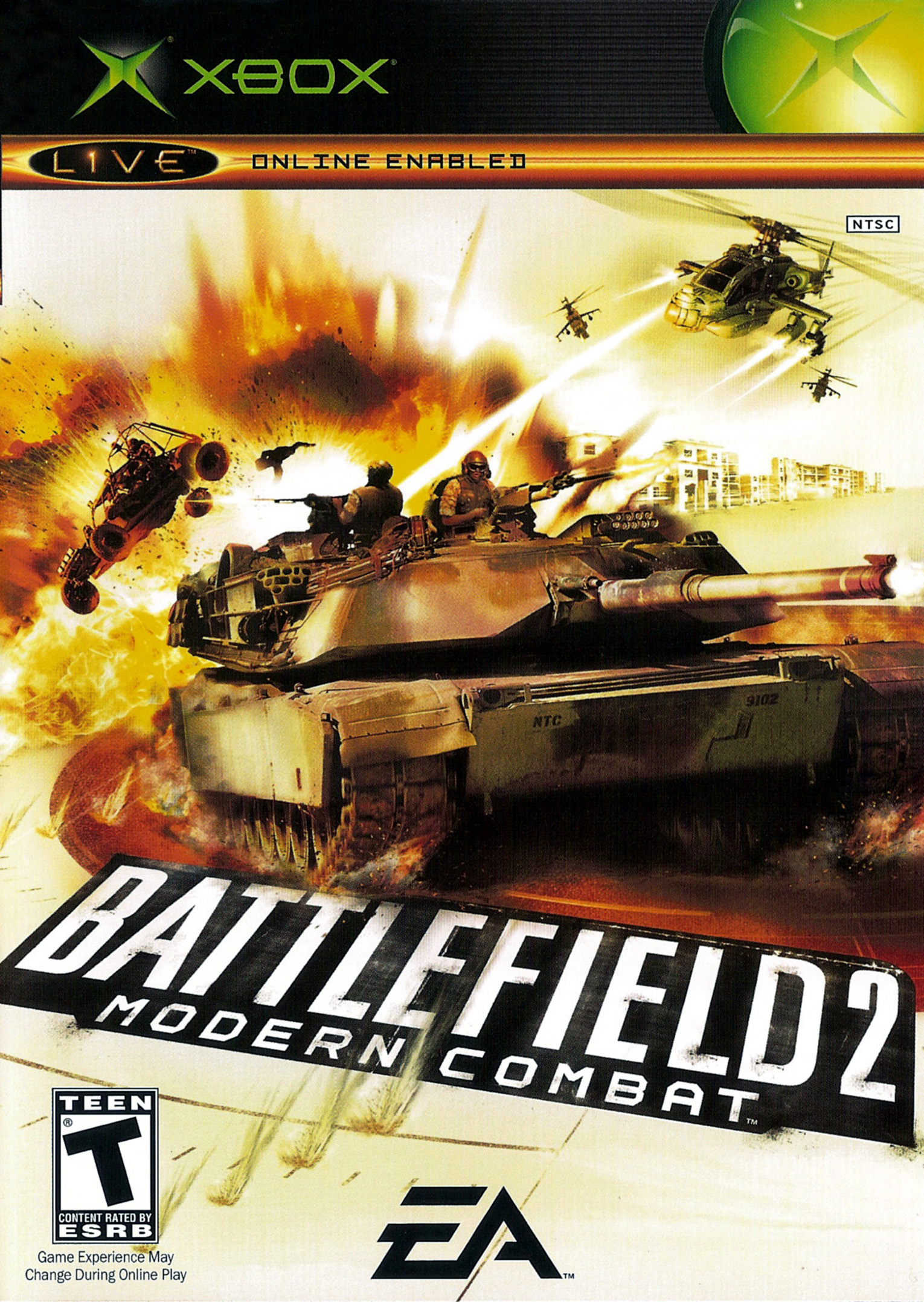 Box artwork for Battlefield 2: Modern Combat.