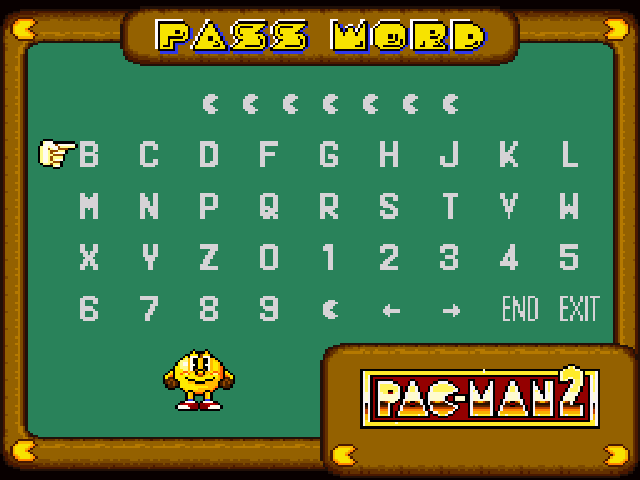 Pac Man 2 The New Adventures Passwords Strategywiki