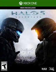 Box artwork for Halo 5: Guardians.