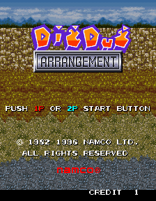 Box artwork for Dig Dug Arrangement.