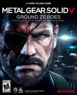 Box artwork for Metal Gear Solid V: Ground Zeroes.