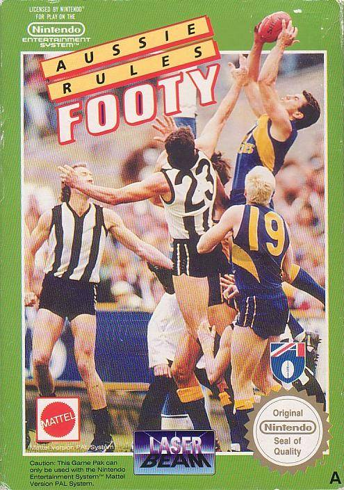Box artwork for Aussie Rules Footy.