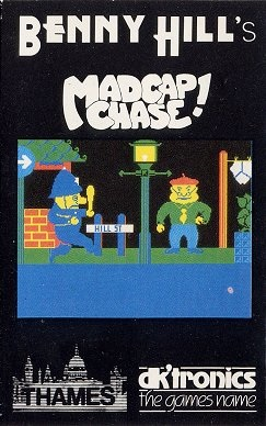 Box artwork for Benny Hill's Madcap Chase.
