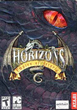 Box artwork for Horizons: Empire of Istaria.