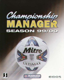 Box artwork for Championship Manager: Season 99-00.