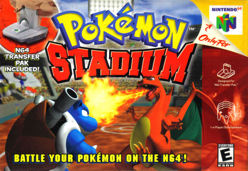 Box artwork for Pokémon Stadium.
