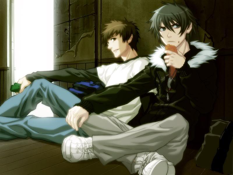 File:Togainu no Chi screen Keisuke and Akira.png