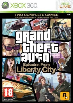 Box artwork for Grand Theft Auto: Episodes from Liberty City.