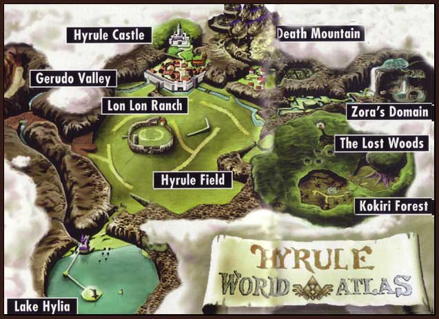 How did the lost woods move from below zoras domain to west of