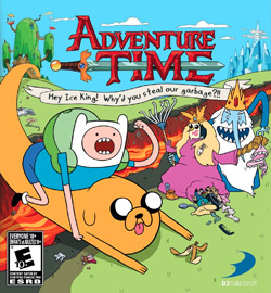 Box artwork for Adventure Time: Hey Ice King! Why'd you steal our garbage?!!.