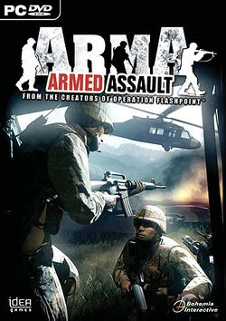 Box artwork for ARMA: Armed Assault.