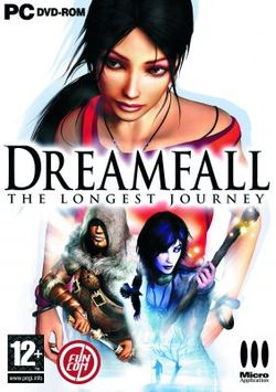 Box artwork for Dreamfall: The Longest Journey.