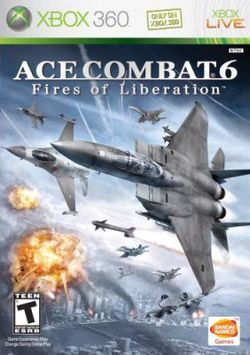 Box artwork for Ace Combat 6: Fires of Liberation.