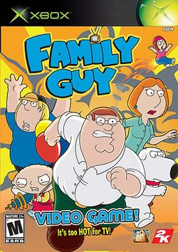 Box artwork for Family Guy Video Game!.