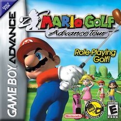 Box artwork for Mario Golf: Advance Tour.