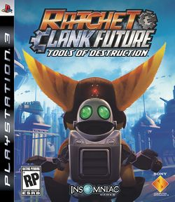 Box artwork for Ratchet & Clank Future: Tools of Destruction.