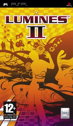 Box artwork for Lumines II.