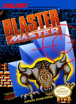 Box artwork for Blaster Master.