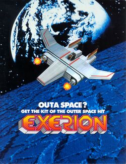 Box artwork for Exerion.