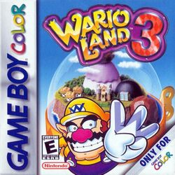 Box artwork for Wario Land 3.