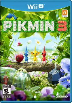 Box artwork for Pikmin 3.