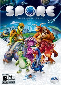Box artwork for Spore.