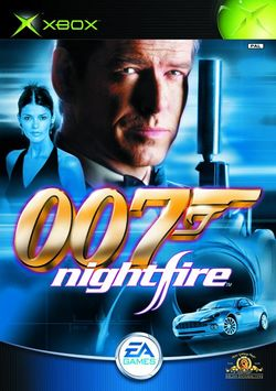 Box artwork for James Bond 007: NightFire.