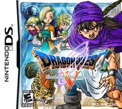 Box artwork for Dragon Quest V: Hand of the Heavenly Bride.