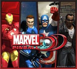 Box artwork for Marvel Pinball 3D.