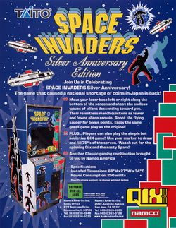 Box artwork for Space Invaders: 25th Anniversary.