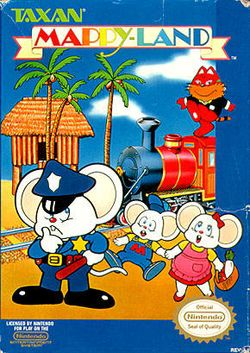 Box artwork for Mappy-Land.
