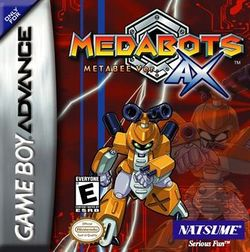 Box artwork for Medabots AX: Metabee and Rokusho.