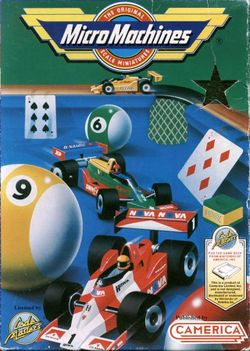 Box artwork for Micro Machines.