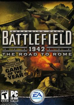 Box artwork for Battlefield 1942: The Road to Rome.
