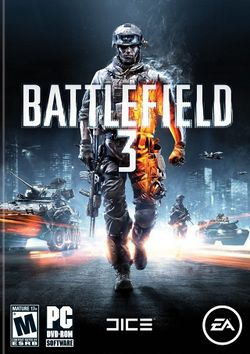 Box artwork for Battlefield 3.