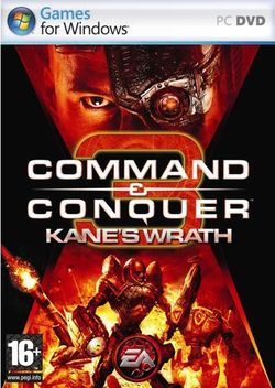 Box artwork for Command & Conquer 3: Kane's Wrath.