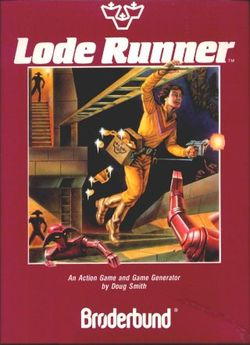 Box artwork for Lode Runner.