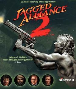 Box artwork for Jagged Alliance 2.