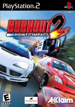 Box artwork for Burnout 2: Point of Impact.