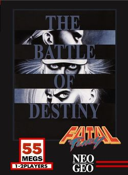 Box artwork for Fatal Fury: King of Fighters.