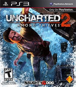 Box artwork for Uncharted 2: Among Thieves.