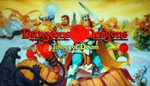 Dungeons & Dragons: Tower of Doom marquee