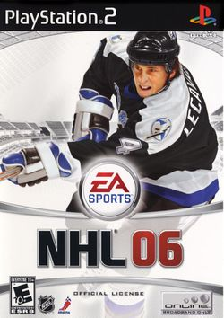Box artwork for NHL 06.