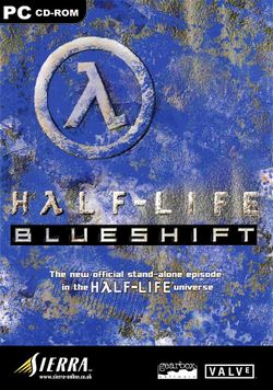 Box artwork for Half-Life: Blue Shift.