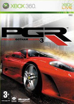 Box artwork for Project Gotham Racing 3.